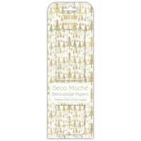 Golden Trees Decoupage Papers - 3 Sheets