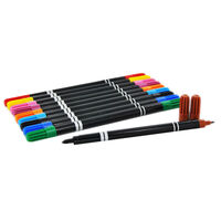 Double Ended Colour Markers - Pack Of 10