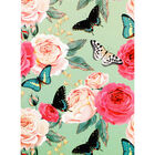 A5 Soft Cover Floral Butterfly Plain Notebook image number 1
