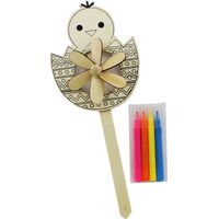 Colour Your Own Easter Windmill - Assorted