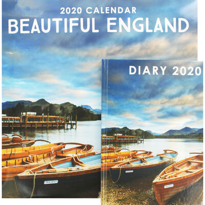 Beautiful England Calendar and Diary Set image number 1