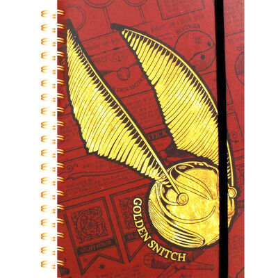 A5 Harry Potter Snitch Lined Notebook image number 1