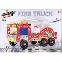 Metal Fire Truck Model Kit: 239 Pieces
