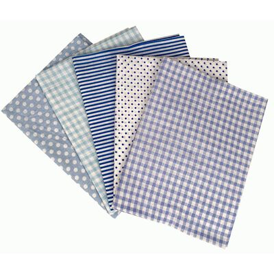 Pale Blue Fat Quarters: Pack of 5 image number 1