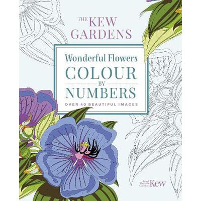 The Kew Gardens Wonderful Flowers Colour-By-Numbers image number 1