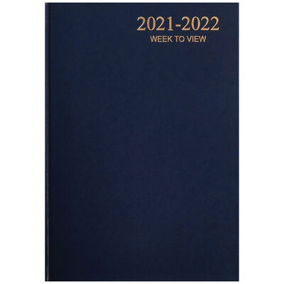 A5 Blue 2021-2022 Week to View Diary image number 1