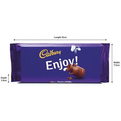 Cadbury Dairy Milk Chocolate Bar 110g - Enjoy image number 3