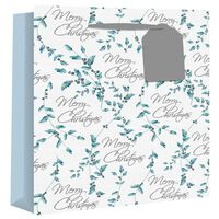 Wide Gusset Holly Script Gift Bag