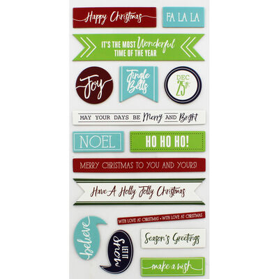 Christmas Sentiments Thick Christmas Stickers image number 2