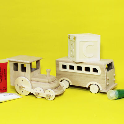 Decorate Your Own Wooden Train image number 2