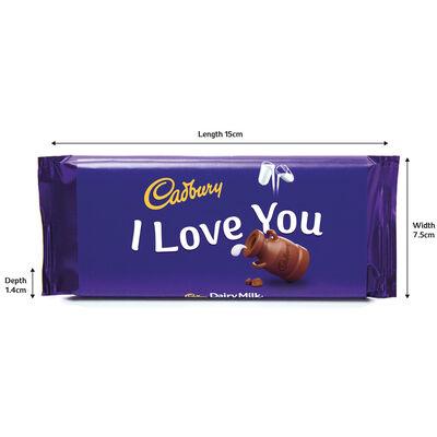 Cadbury Dairy Milk Chocolate Bar 110g - I Love You image number 3