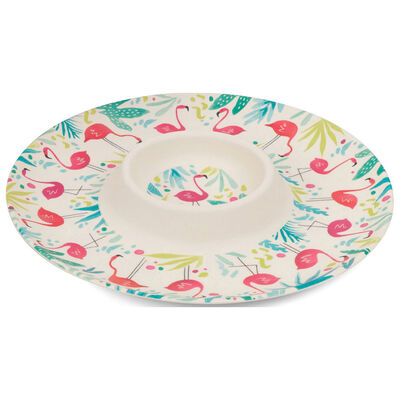 Flamingo Bamboo Eco Chip N Dip Tray image number 1