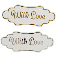 Dovecraft Essentials Die Cut Toppers - With Love - 12 Pack