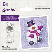 Gemini Stamp & Die Set: Wobbling Snowman