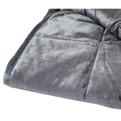Grey Super-Soft Velvet Touch Weighted Blanket 150 x 200cm - 6.8kg image number 3