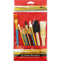 Artist Brushes - Pack Of 16