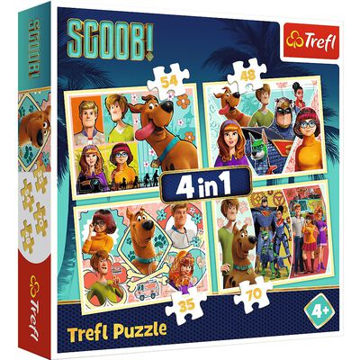 Scooby Doo 4-in-1 Jigsaw Puzzle Set image number 1
