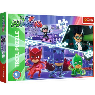 100 Piece PJ Masks In Action Jigsaw Puzzle image number 1
