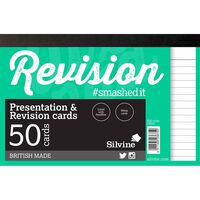 50 Silvine White Revision And Presentation Cards