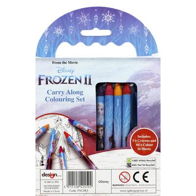 Disney Frozen 2 Carry Along Colouring Set image number 4