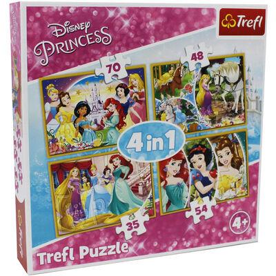 Disney Princess 4-in-1 Jigsaw Puzzle Set image number 1