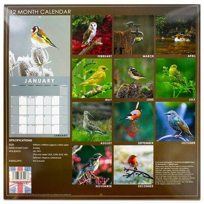 British Birds 2022 Square Calendar and Diary Set image number 4