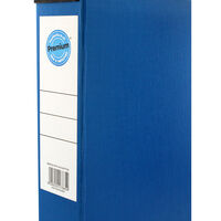 Blue Box File with Lid Clip