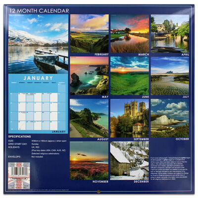 Beautiful England 2022 Square Calendar and Diary Set image number 4