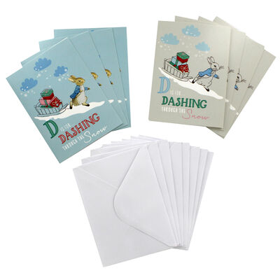 8 Christmas Cards in Tin - Peter Rabbit image number 2