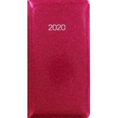 Pink Glitter 2020 Slim Week to View Pocket Diary image number 1