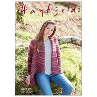 Hayfield Spirit DK: Long Sleeved Sweater Knitting Pattern 10035