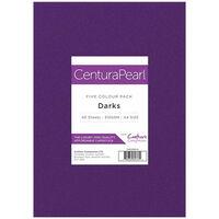 A4 Centura Pearl Darks Card: 40 Sheets
