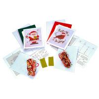 Santa and Robin Cross Stitch Card Kit