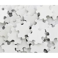 60 Wooden Puzzle Pieces - White