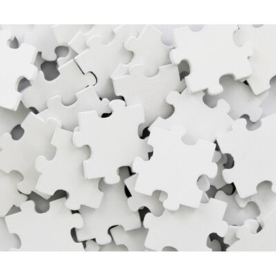 60 Wooden Puzzle Pieces - White image number 2