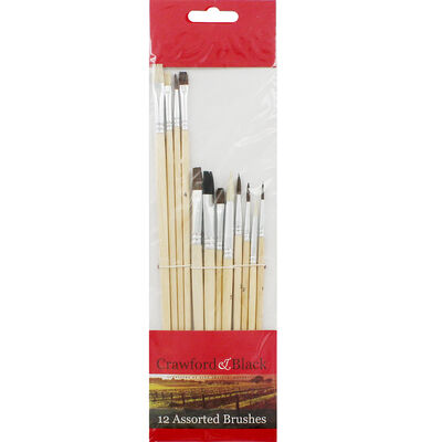 Crawford and Black Brush Assortment - 12 Pieces image number 1