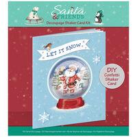 Decoupage Shaker Santa Card Kit