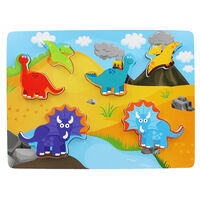Chunky Wooden Puzzle - Dinosaurs