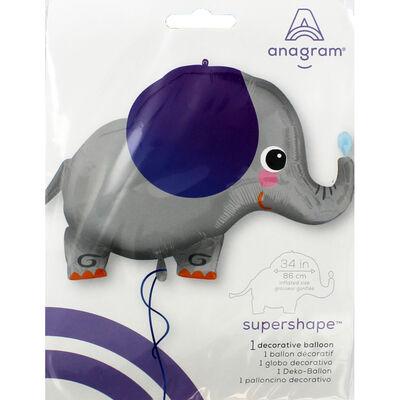 34 Inch Elephant Super Shape Helium Balloon image number 2