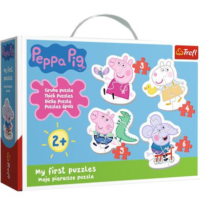 4 in 1 My First Peppa Pig Jigsaw Puzzle Set image number 1
