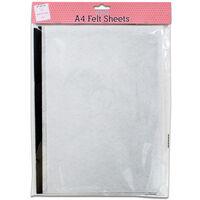 A4 Felt Sheets: Pack of 4