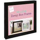 Black Deep Box Frame - 20cm x 20cm image number 1