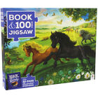 Black Beauty 100 Piece Jigsaw Puzzle and Book Set image number 1