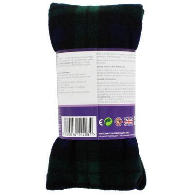 Black with Green Tartan Lavender Microwaveable Heat Wrap image number 3