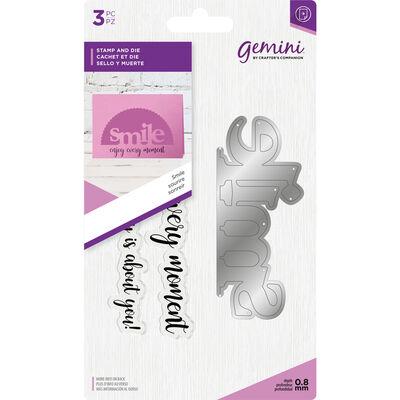 Gemini Stamp and Metal Die Set - Smile image number 1