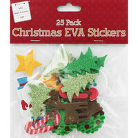 Christmas EVA Stickers - Pack Of 25