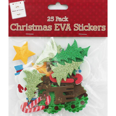 Christmas EVA Stickers - Pack Of 25 image number 1