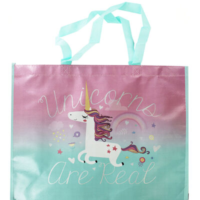 Unicorns are Real Giant Shopping Bag image number 1