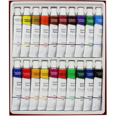 High Quality 12ml Acrylic Paints - Set of 20 image number 2