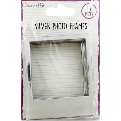 Dovecraft Essentials Photo Frames - Silver - 10 Pack image number 1